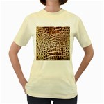 Ll Alligator Macro Women s Yellow T-Shirt