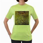 Ll Alligator Macro Women s Green T-Shirt