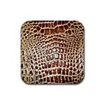 Ll Alligator Macro Rubber Square Coaster (4 pack)