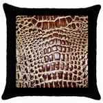 Ll Alligator Macro Throw Pillow Case (Black)
