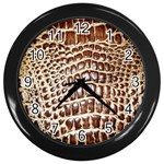 Ll Alligator Macro Wall Clock (Black)