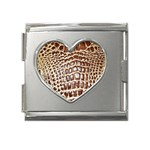 Ll Alligator Macro Mega Link Heart Italian Charm (18mm)