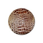 Ll Alligator Macro Rubber Coaster (Round)