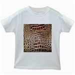 Ll Alligator Macro Kids White T-Shirt