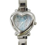 Ll Alligator Blue Heart Italian Charm Watch