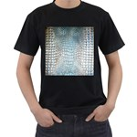 Ll Alligator Blue Black T-Shirt (Two Sides)