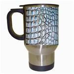 Ll Alligator Blue Travel Mug (White)