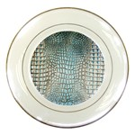 Ll Alligator Blue Porcelain Plate