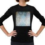 Ll Alligator Blue Women s Long Sleeve Dark T-Shirt
