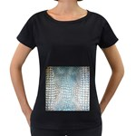 Ll Alligator Blue Maternity Black T-Shirt