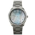 Ll Alligator Blue Sport Metal Watch