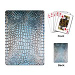 Ll Alligator Blue Playing Cards Single Design