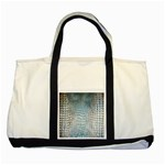 Ll Alligator Blue Two Tone Tote Bag