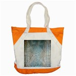 Ll Alligator Blue Accent Tote Bag