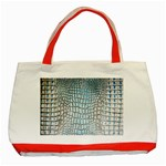 Ll Alligator Blue Classic Tote Bag (Red)