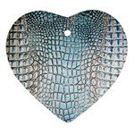 Ll Alligator Blue Heart Ornament (Two Sides)