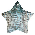 Ll Alligator Blue Star Ornament (Two Sides)