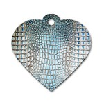 Ll Alligator Blue Dog Tag Heart (One Side)