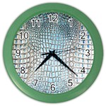 Ll Alligator Blue Color Wall Clock
