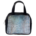 Ll Alligator Blue Classic Handbag (One Side)