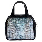Ll Alligator Blue Classic Handbag (Two Sides)
