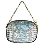 Ll Alligator Blue Chain Purse (One Side)