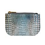 Ll Alligator Blue Mini Coin Purse