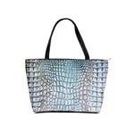 Ll Alligator Blue Classic Shoulder Handbag