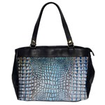 Ll Alligator Blue Oversize Office Handbag (One Side)