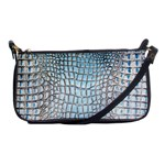 Ll Alligator Blue Shoulder Clutch Bag