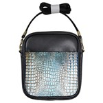 Ll Alligator Blue Girls Sling Bag