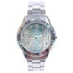 Ll Alligator Blue Stainless Steel Analogue Men's Watch
