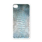 Ll Alligator Blue Apple iPhone 4 Case (White)