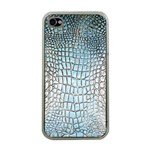 Ll Alligator Blue Apple iPhone 4 Case (Clear)