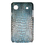 Ll Alligator Blue Samsung Galaxy SL i9003 Hardshell Case