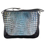 Ll Alligator Blue Messenger Bag
