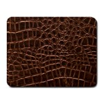 Leather Look & Skins Brown Crocodile Small Mousepad