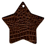 Leather Look & Skins Brown Crocodile Ornament (Star)
