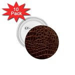Leather Look & Skins Brown Crocodile 1.75  Button (10 pack)