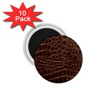 Leather Look & Skins Brown Crocodile 1.75  Magnet (10 pack)