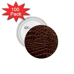 Leather Look & Skins Brown Crocodile 1.75  Button (100 pack)