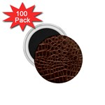 Leather Look & Skins Brown Crocodile 1.75  Magnet (100 pack)