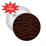 Leather Look & Skins Brown Crocodile 2.25  Button (10 pack)