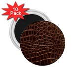 Leather Look & Skins Brown Crocodile 2.25  Magnet (10 pack)