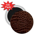Leather Look & Skins Brown Crocodile 2.25  Magnet (100 pack)