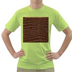 Leather Look & Skins Brown Crocodile Green T-Shirt