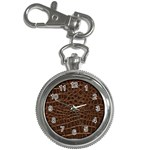 Leather Look & Skins Brown Crocodile Key Chain Watch