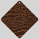 Leather Look & Skins Brown Crocodile Car Window Sign