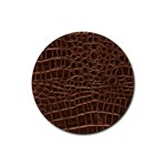Leather Look & Skins Brown Crocodile Rubber Round Coaster (4 pack)