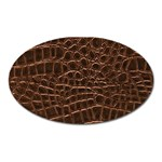 Leather Look & Skins Brown Crocodile Magnet (Oval)